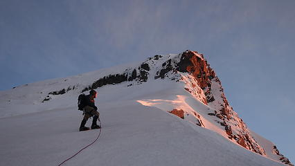 Alpenglow on Aspiring