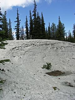Good size drift along the ridge between Klone Peak 6820' and point 6518'
