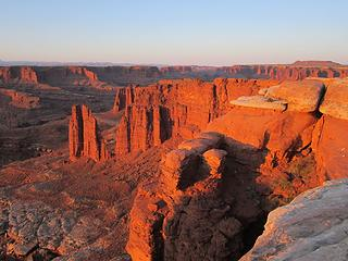 Sunrise color, Monument Basin