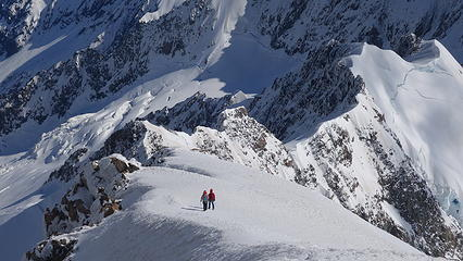 Other climbers nearing the summit
