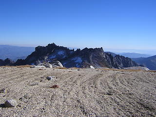 """The """"dance floor' and interesting erosion grooves, near top of Enchantment Pk."""