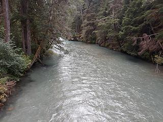 Thunder Creek - looks more like a river, and this in late August in a dry year