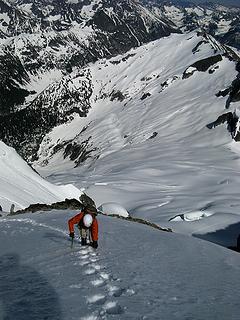 Looking back down the Douglas Glacier