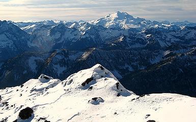 Clouds west of Glacier Peak