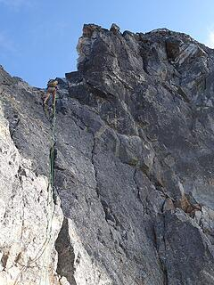 The rappel off Degenhardt to the west