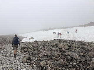 Snowfield on the way to Ben Nevis