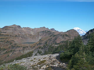 Goat Lake and Mt Rainier