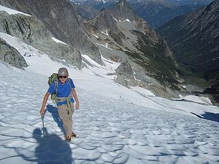 Jake on the Dark Glacier