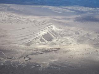 Eureka Dunes below