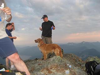Mark & Rufus on the summit!