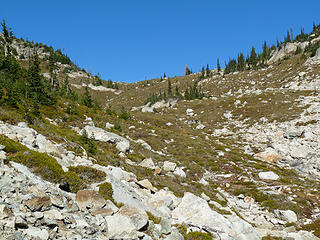 Copper Pass comes into view.