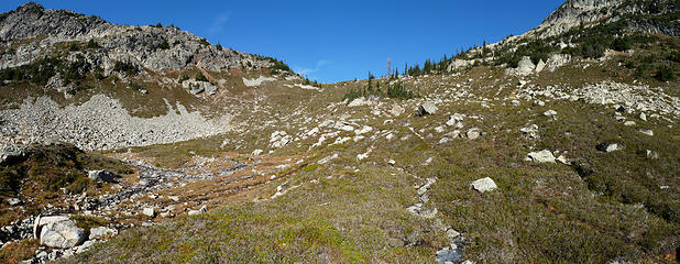 Copper Pass and Upper Basin the beginning of the North Fork Twisp River
