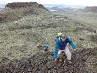 Several ups and downs along the ridge