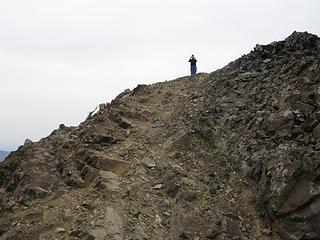 Approaching Miller Peak Summit (EastKing (Greg)) already there.