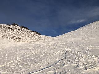 Looking up towards Mount Gordon Lyon