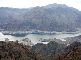 remote narrow section of Lake Meade