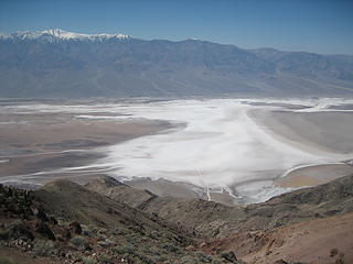 Death Valley below and snowcapped Telescope Pk above