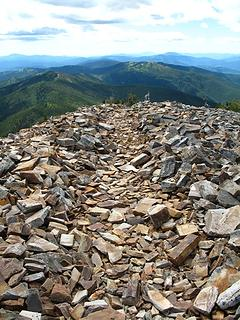 Rock trail to the summit.
