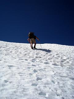 steepish near the top