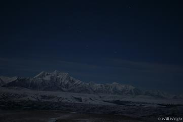 Mt. Hayes from Donnelly Dome at night