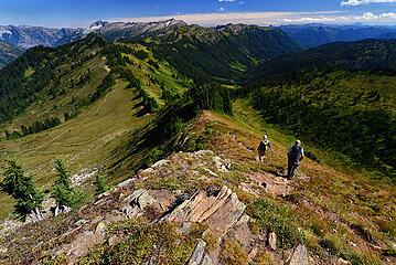 Descending Kodak Peak