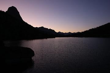Dusk, Fin Dome and Lower Rae Lake, Kings Canyon National Park