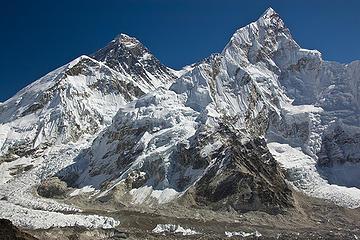 L-R:  Everest, Lhotse and Nuptse