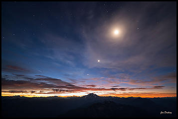 Moon over Glacier Pk.