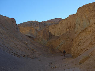 Into the canyon.  Desolation Canyon, Death Valley National Park, CA