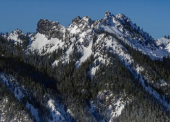 Some of the many peaks of Kendall Peaks . . .
