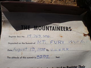 The summit register.  It was placed in 1958.