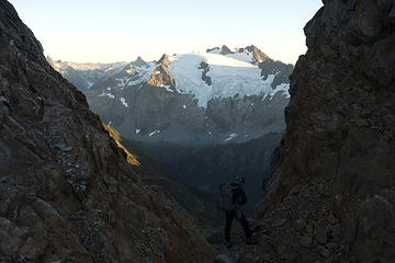 19. Spider-Formidable Col, first view of Sentinel Peak