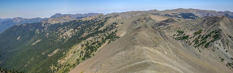 Lillian Ridge looking north toward Obstruction Point trailhead