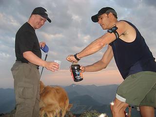 Joseph pours Mark a magic drink :)