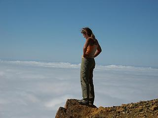 Standing at the edge of clouds