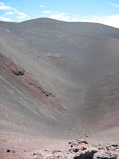 The crater of the volcano Achen Niyeu 1730 meters
