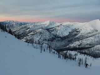 Looking back toward Sunrise and McLeod
