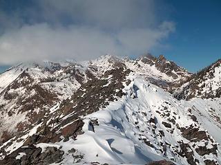 Ridgeline to the summit