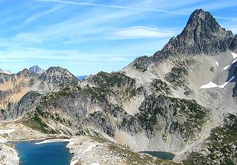 The ridge from Upper Silent Lake to Fisher