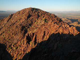 summit seen from false summit