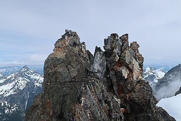 Degenhardt summit from the southern spire