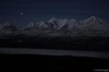 Eastern Alaska Range at night (2)