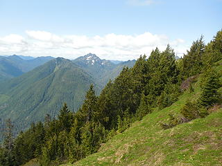 Looking west from Wonder Mtn meadow