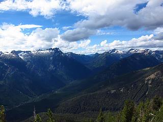 View up toward Buck Creek Pass