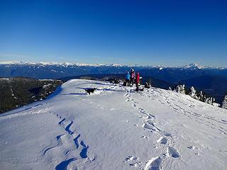 Round Mtn summit.