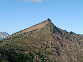Whittier Peak as seen from the ridge between Longfellow Mtn. and Poe Mtn.