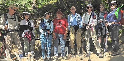 Leaving the Sauers Mt trailhead