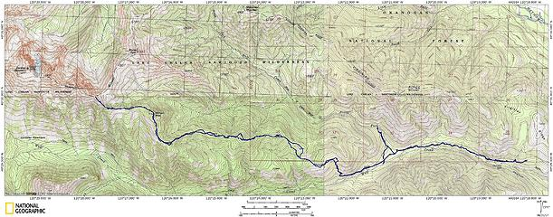 Milton 7152' - Gardner Ridge 7961' via Wolf Creek