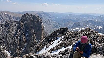 Turret Peak at left