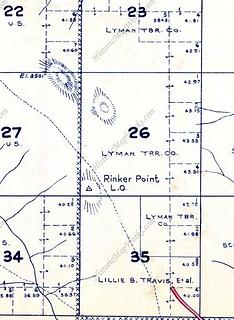Rinker on a Metsker Map (no USGS map has it labeled that I can find)